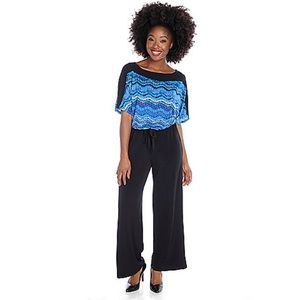 Kate & Mallory Dolman Sleeve Wide Leg Jumpsuit L